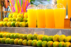 Orange juice. Organic orange from garden Royalty Free Stock Photos