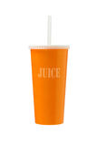 Orange Juice in Paper Cup Royalty Free Stock Images