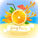 Orange juice party Royalty Free Stock Images