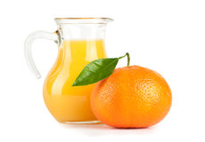 Orange juice in pitcher Royalty Free Stock Image