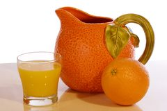 Orange Juice Pitcher Royalty Free Stock Images