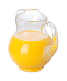 Orange Juice Pitcher (with clipping path). Orange Juice Pitcher with a clipping path isolated on white Royalty Free Stock Image
