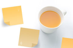 Orange juice with post it paper. Stock Photography