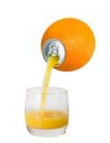 Orange juice pouring from orange fruit Stock Image