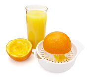 Orange juice preparation fruit Royalty Free Stock Image