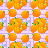Orange juice seamless background design Stock Photo