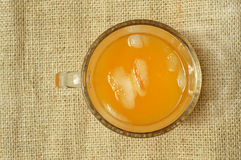 Orange Juice. Seen from top Royalty Free Stock Photo