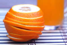 Orange with juice with selective focus Stock Photo