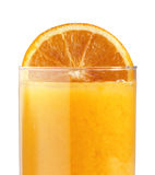 Orange juice and slice Royalty Free Stock Photography