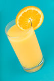 Orange juice with slice of orange Stock Photos