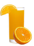 Orange juice with slice of orange Stock Photography