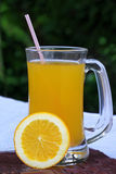 Orange juice with sliced orange Stock Images
