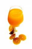 Orange juice. And slices of orange isolated on white Stock Photography
