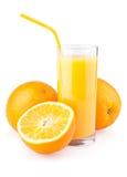 Orange juice and slices of orange Royalty Free Stock Image