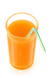 Orange juice and slices of orange Stock Image