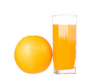 Orange juice and slices of orange Royalty Free Stock Photos