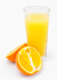 Orange juice and slices of orange  Royalty Free Stock Images