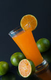 Orange juice and slices of orange Royalty Free Stock Photography