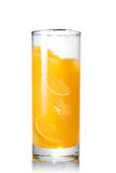 Orange juice with slices of orange in the glass Stock Photo