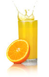 Orange juice with slices of orange in the glass Stock Photography