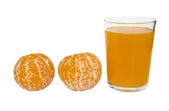 Orange juice and slices of orange Royalty Free Stock Photo