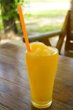 Orange juice smoothie Stock Photo