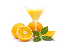 Orange juice and some fresh fruits Royalty Free Stock Photography