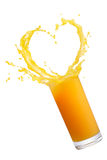 Orange juice splash Royalty Free Stock Images