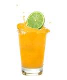 Orange juice splash royalty free stock photography