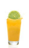 Orange juice splash Stock Photography