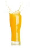 Orange juice splash. Isolated on white background Royalty Free Stock Image