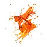 Orange juice splash Royalty Free Stock Photo