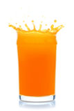 Orange juice splash. Orange juice splash,  on the white background, clipping path included Royalty Free Stock Photo