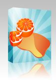 Orange juice splash box package Stock Photography