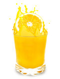Orange juice splash Royalty Free Stock Photos