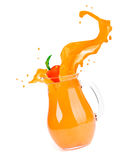 Orange juice splash Stock Photo