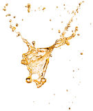 Orange juice splash isolated on the white background Stock Photos