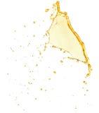 Orange juice splash isolated on the white background.  Royalty Free Stock Photo