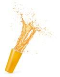 Orange juice splash isolated on white background. Orange juice. splash isolated on white background Stock Photo