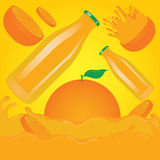 Orange Juice Splash Vector Stockbild