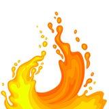 Orange juice splashes. Royalty Free Stock Photography