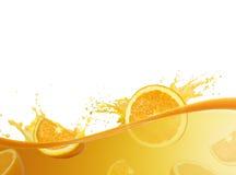 Orange juice splashing royalty free stock photo