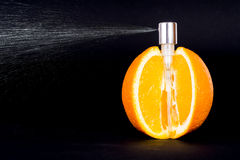 Orange juice spray Stock Photography