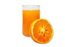 Orange juice. The juice squeezed from oranges Royalty Free Stock Photos
