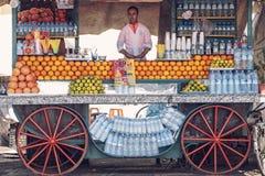 Orange juice stall in Marrakesh Stock Photo