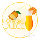 Orange Juice Stamp Stock Photo
