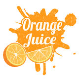 Orange juice stamp Stock Photos