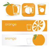 Orange juice symbols Royalty Free Stock Image