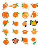 Orange juice symbols Stock Photography