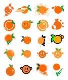 Orange juice symbols Stock Photography